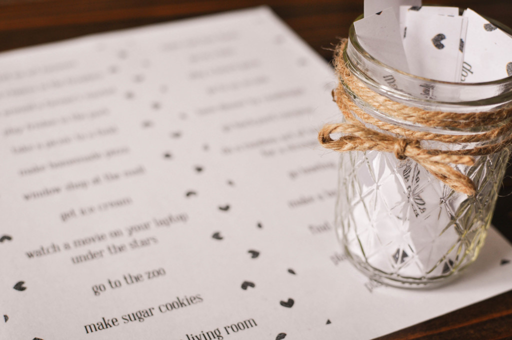 photograph about Date Night Jar Printable referred to as Do-it-yourself Day Evening Jar Furthermore a Absolutely free Printable! - Our