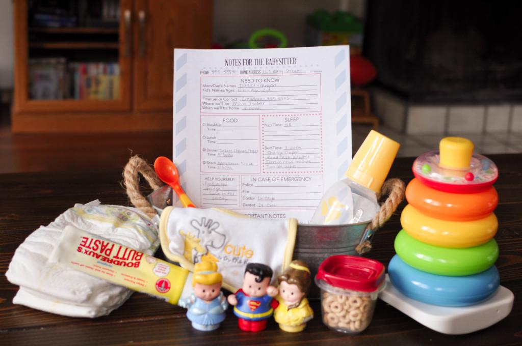 DIY Babysitter Box Free Printable - Wit & Wander