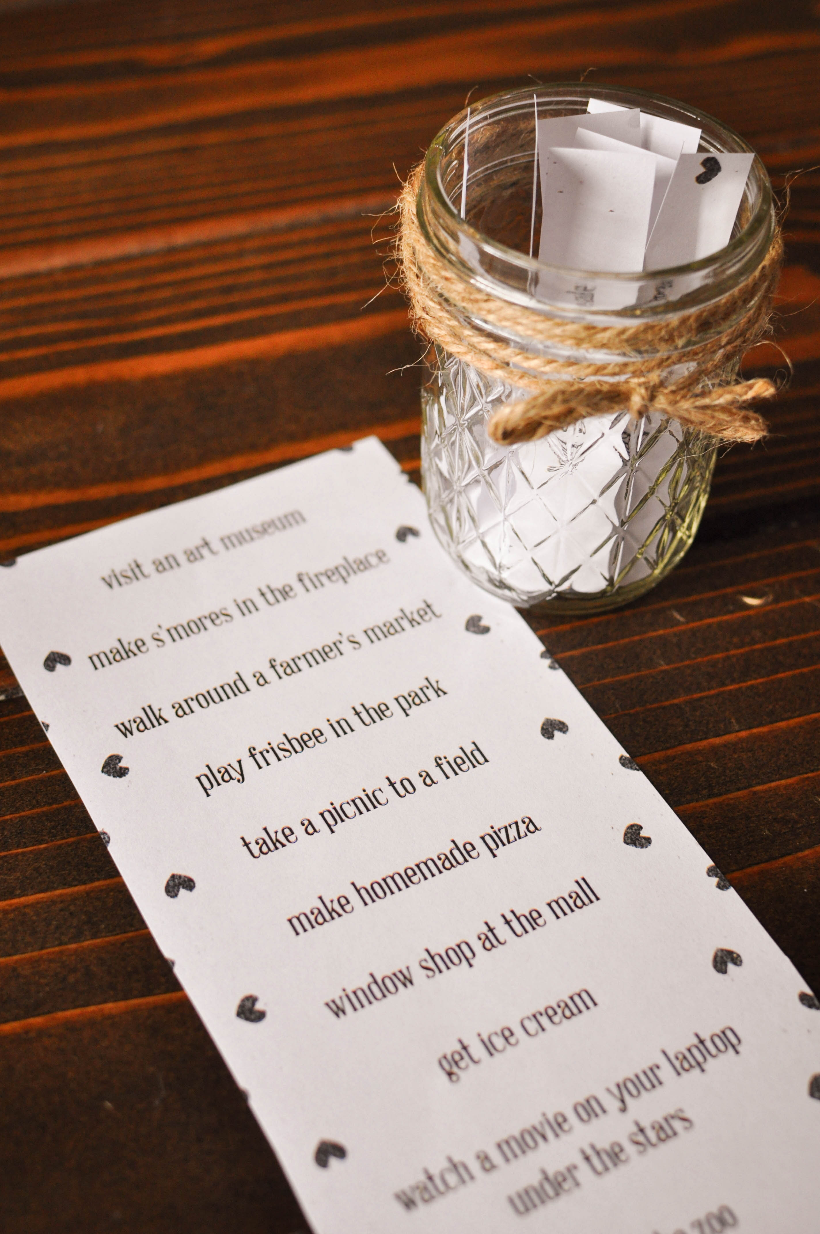 Diy Date Night Jar Plus A Free Printable Our Handcrafted Life