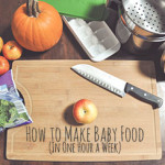 How to Make Baby Food (In One Hour a Week)