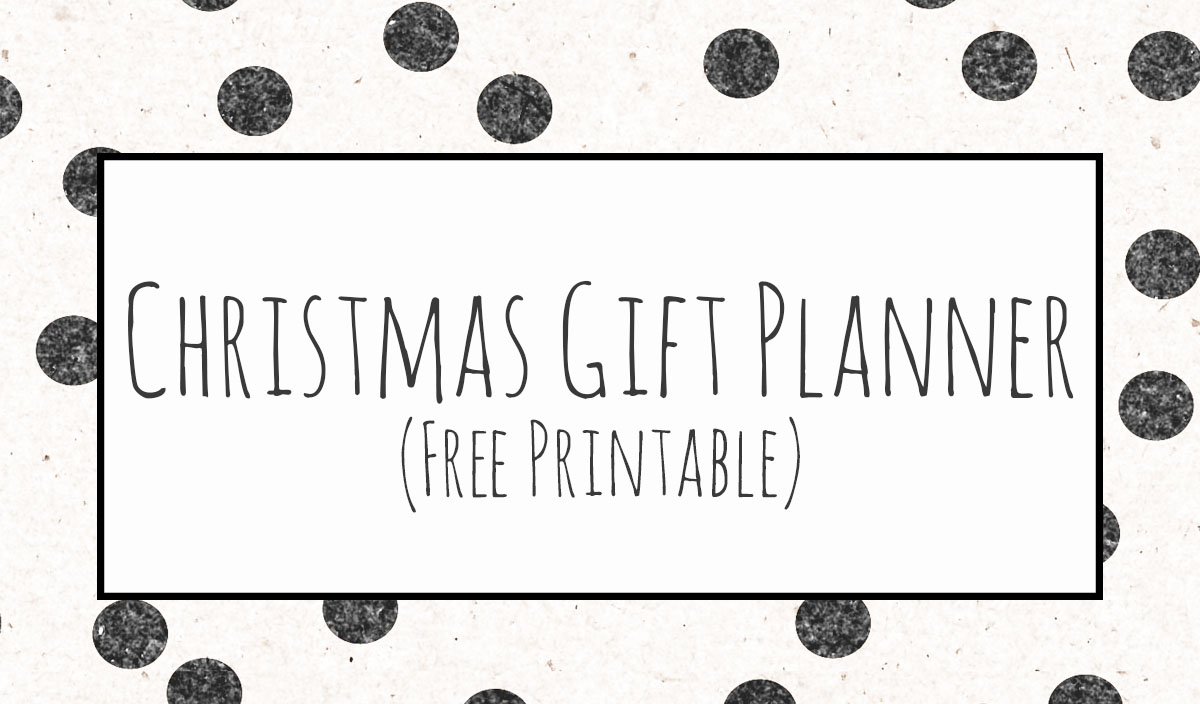 Days Until Christmas Printable.Christmas Gift Planner Wit Wander
