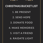 My New Christmas Bucket List (It's not what you're expecting)