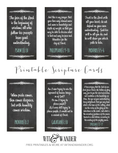 Scripture Cards Printable - Wit & Wander