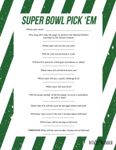 Super Bowl Party Game Free Printable
