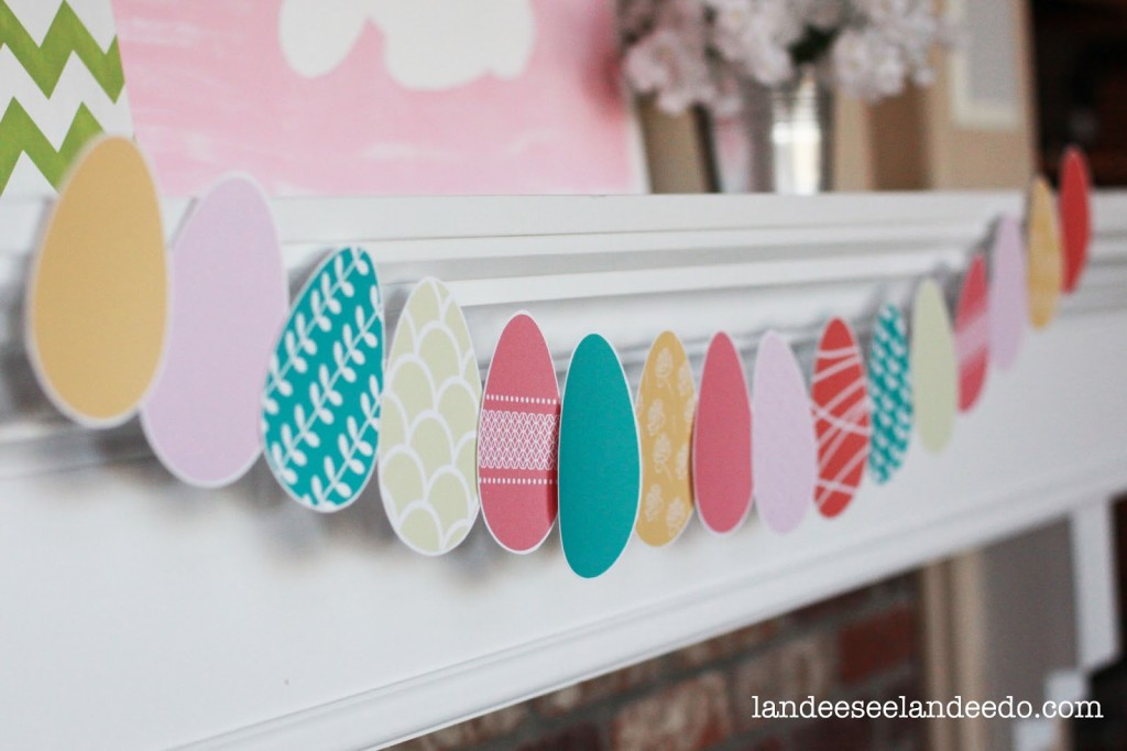 Free Printable Easter - DIY Egg Banner - Wit & Wander