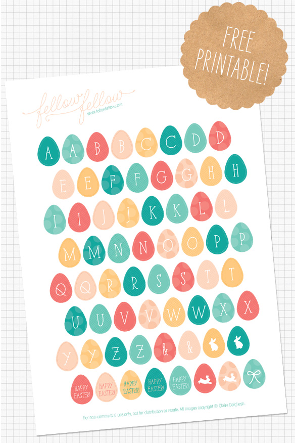 Free Printable Easter Egg Stickers - Wit & Wander