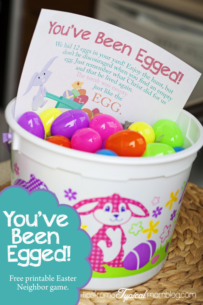 Free Printable Easter - You've Been Egged Neighbor Game - Wit & Wander