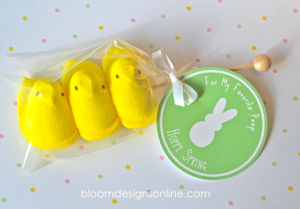 Free Printable Easter - DIY Peeps Tag - Wit & Wander