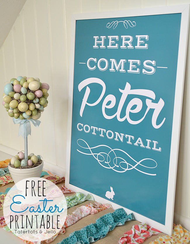 Free Printable Easter - Peter Cottontail - Wit & Wander