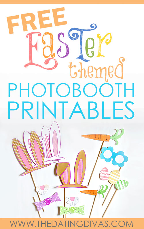 Free Printable Easter - Photo Booth Props - Wit & Wander
