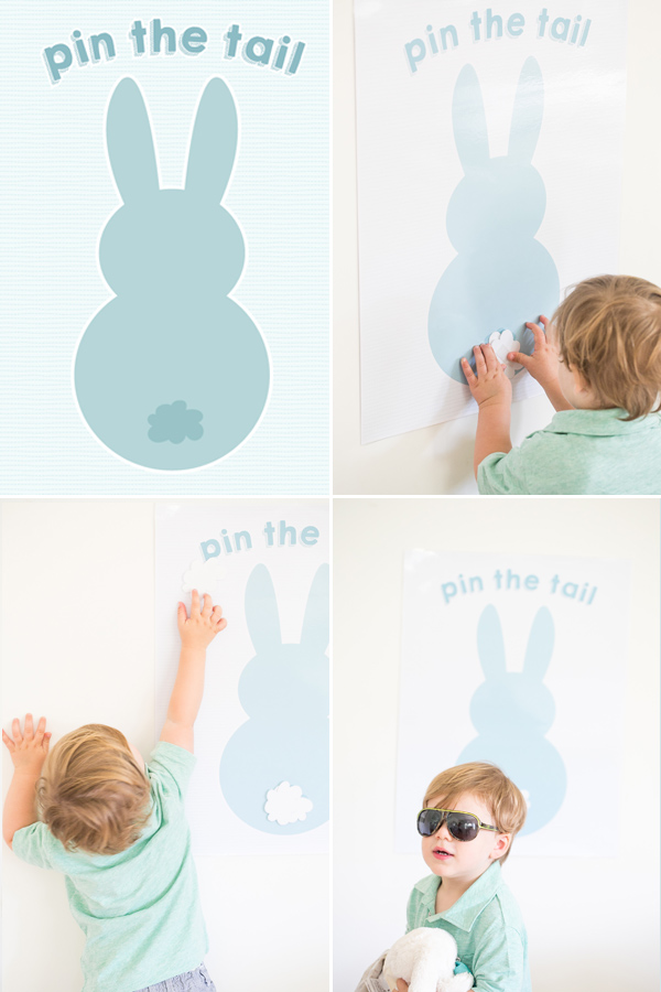 Free Printable Easter - Pin the Tail on the Bunny - Wit & Wander