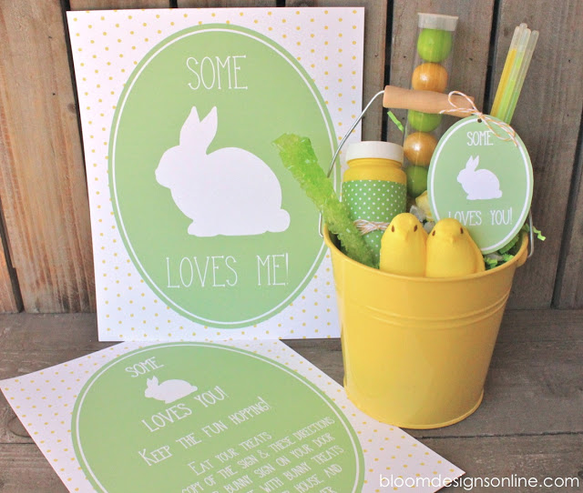 Free Printable Easter - Some Bunny Loves Me Neighbor Gift - Wit & Wander