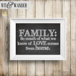 Family Art Quote Print Wit & Wander on Etsy
