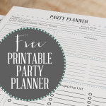 Free Printable Party Planner | Wit & Wander
