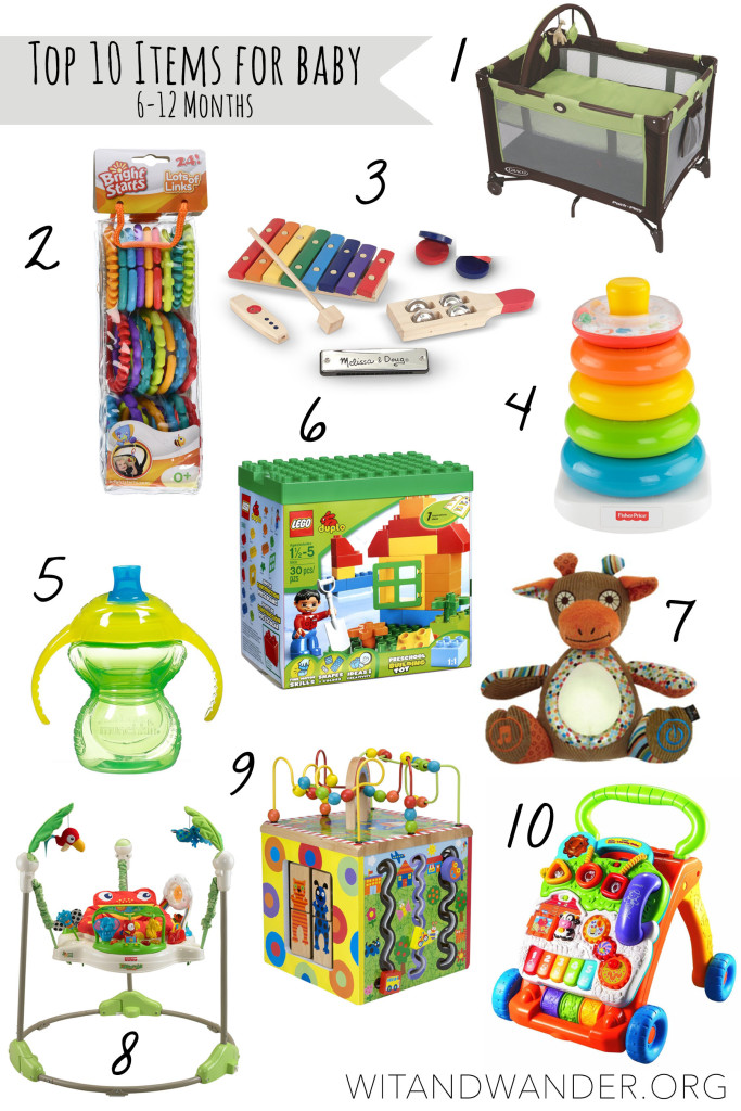 Top 10 Items for Babies 6-12 Months Old - Wit & Wander