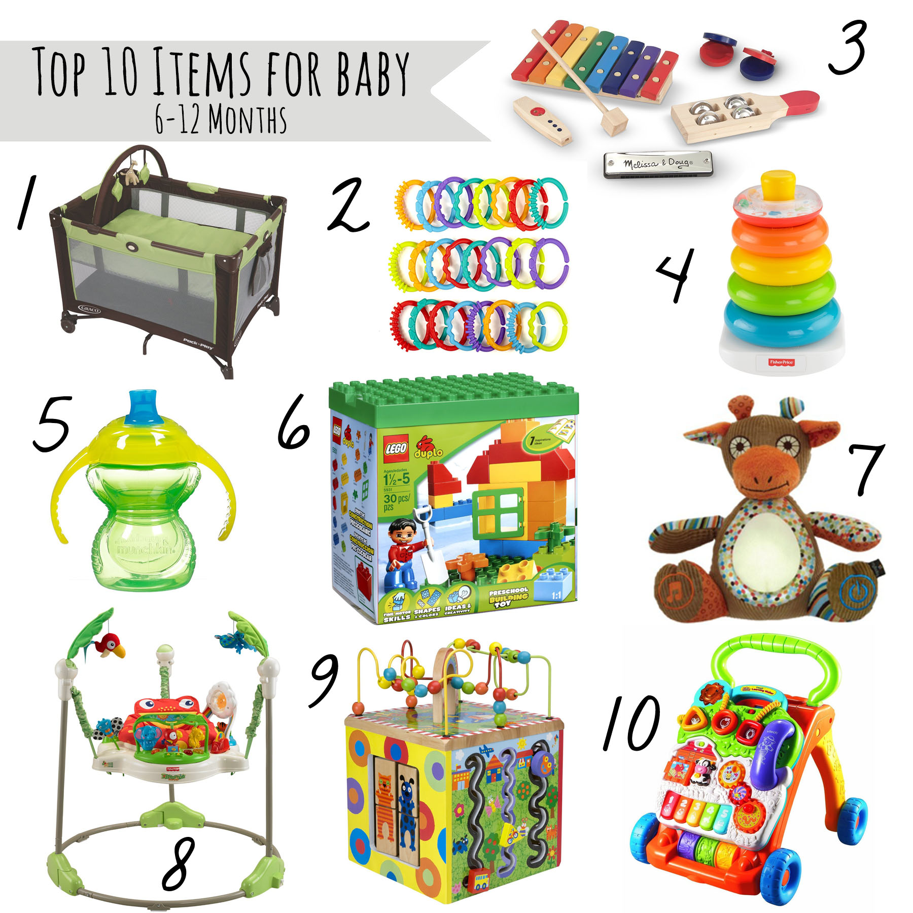 Top 10 Must Haves for Babies 6 12 Month Old Our Handcrafted Life