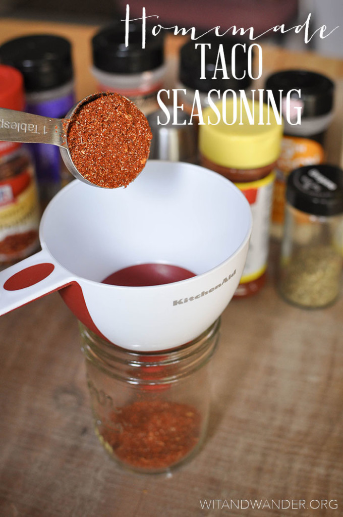 Wit & Wander Homemade Taco Seasoning