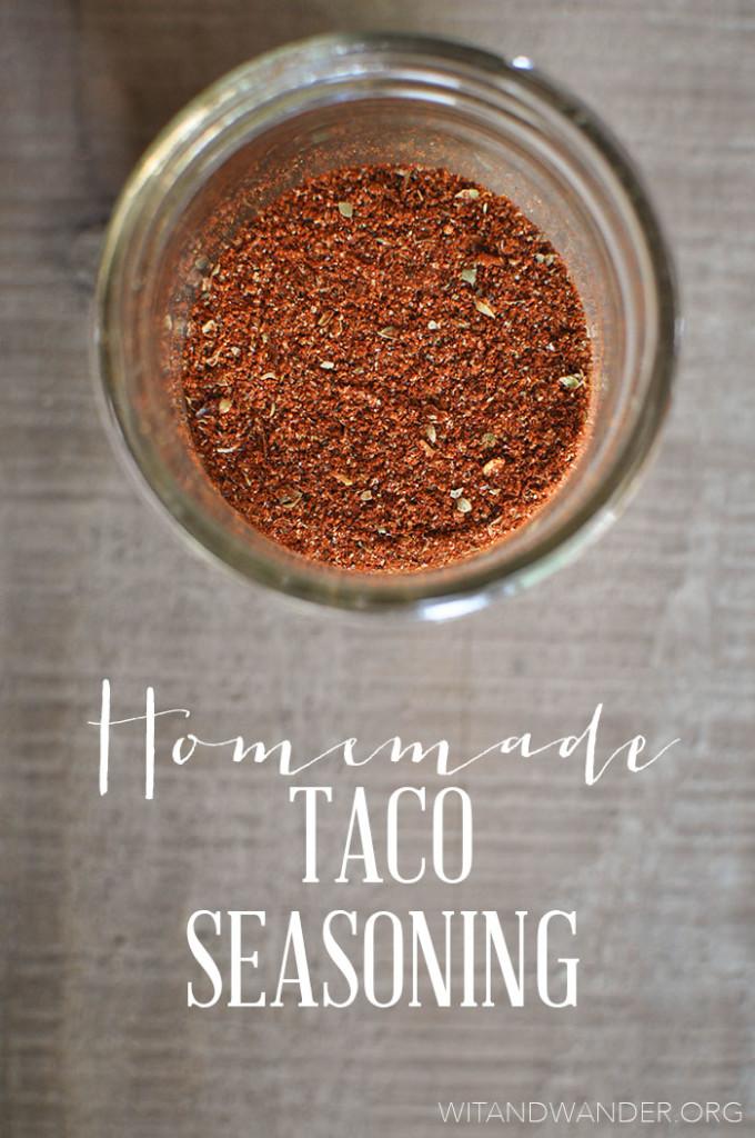 Wit & Wander Homemade Taco Seasoning