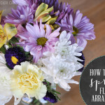 DIY Spring Flower Arrangement