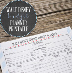 Free Printable Disney World Budget Planner