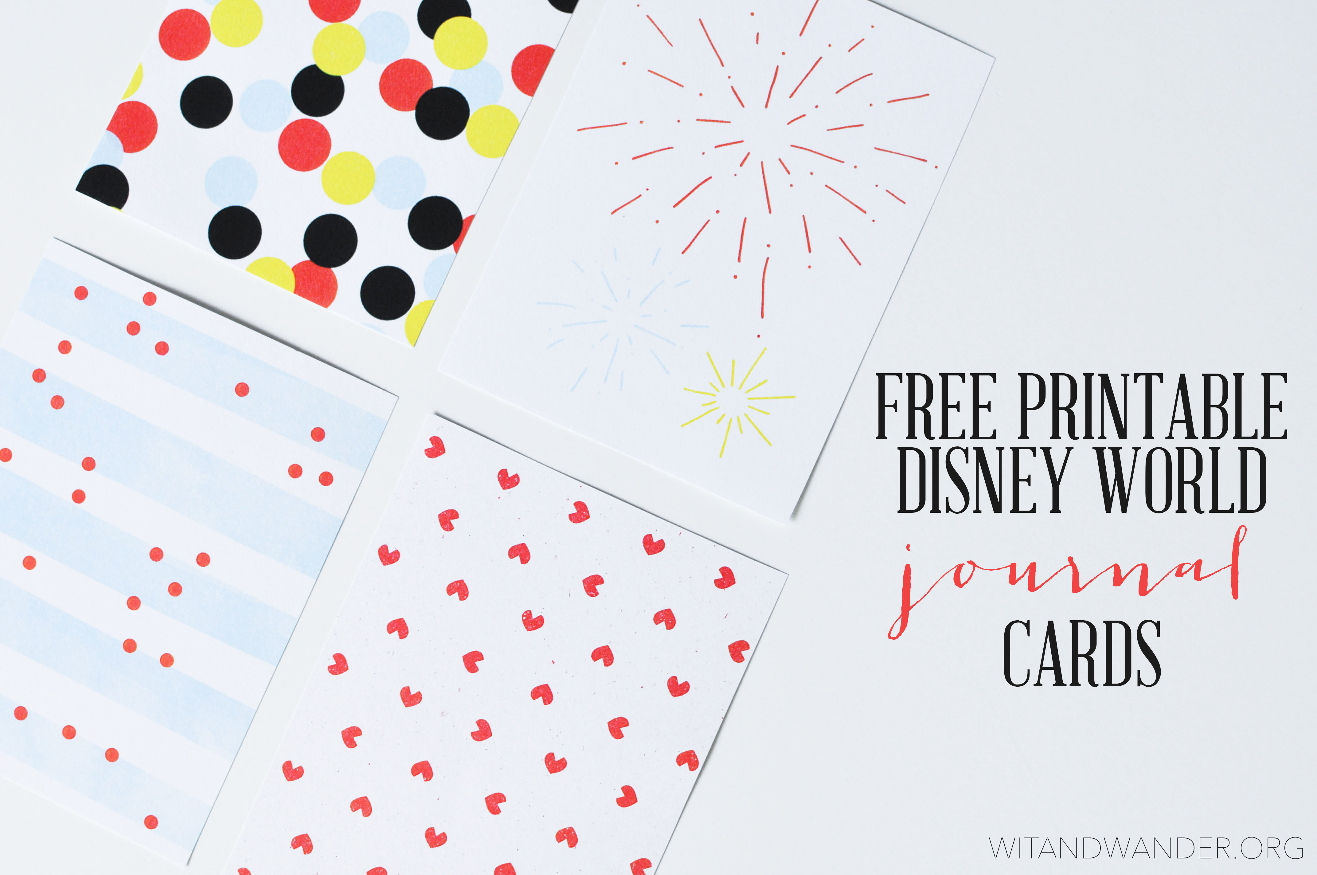 photo about Free Printable Journaling Cards titled Disney International