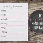 DIY Dry Erase Menu Board {Plus a Free Printable!}