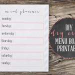 DIY Dry Erase Menu Board {Plus a Free Printable!}
