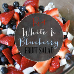 Did you try this Red, White, & Blueberry Fruit Salad? If you missed it, it's great all summer! {permalink}