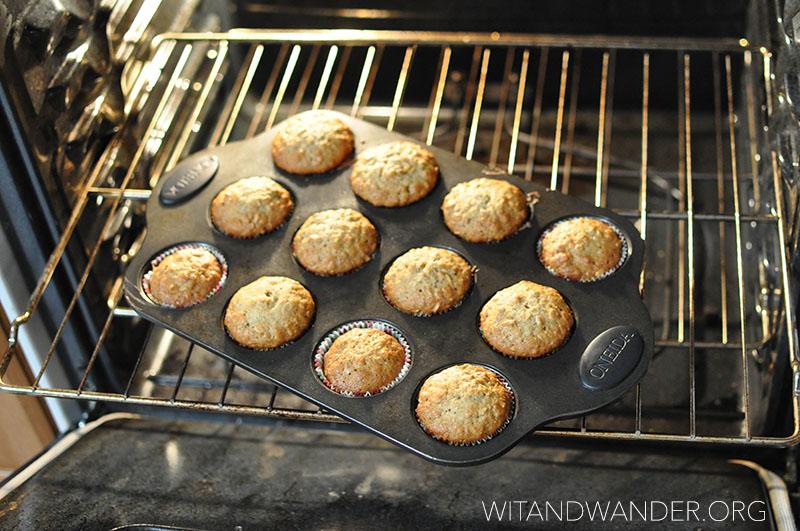 Banana Oat Muffins | Wit & Wander