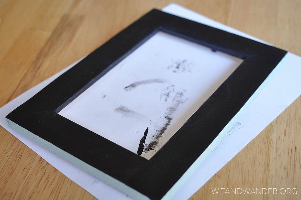 DIY Chalkboard Picture Frame - Wit & Wander 3