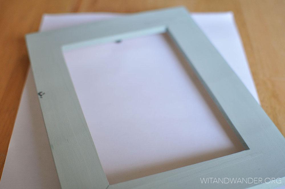 DIY Chalkboard Picture Frame - Wit & Wander 4
