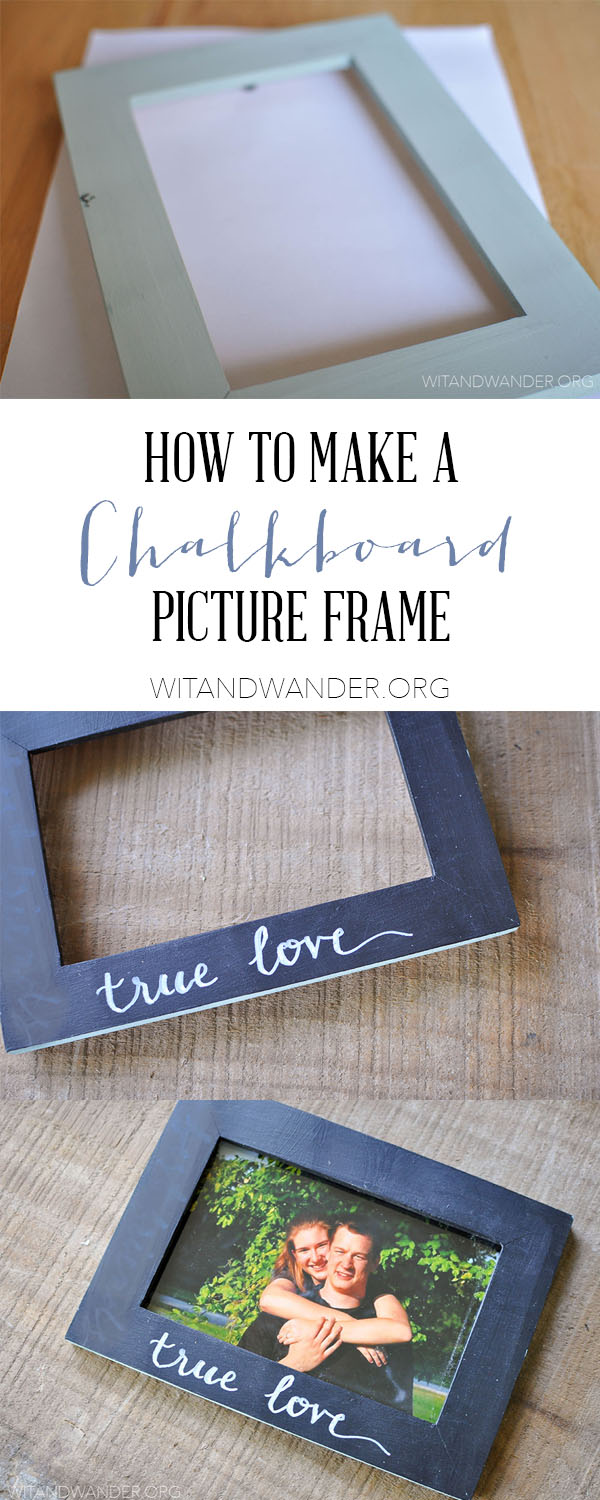 DIY large chalkboard photo frame  The Shabby Creek Cottage