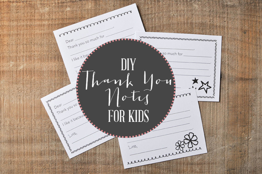 Kid's Thank You Notes - Wit & Wander