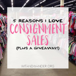 5 Reasons I Love Consignment Sales
