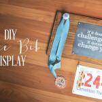 DIY Race Bib + Medal Display