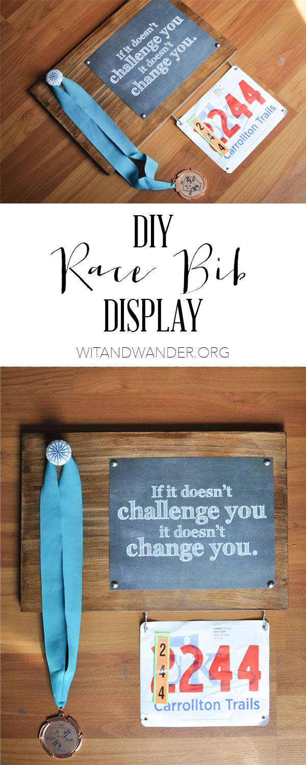 DIY Race Bib + Medal Display | Wit & Wander Pinterest