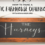 DIY Rustic Farmhouse Chalkboard