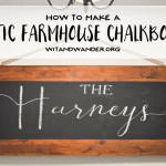 DIY Rustic Farmhouse Chalkboard
