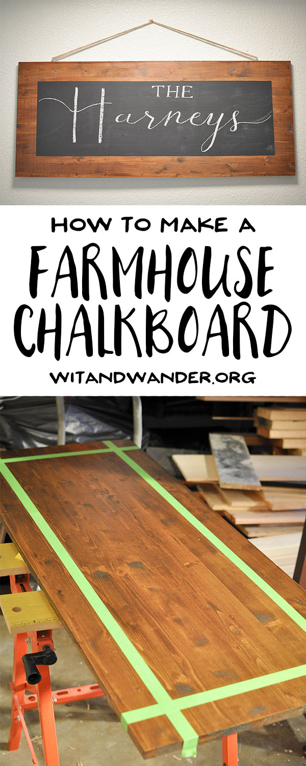 DIY Farmhouse Chalkboard Sign | Wit & Wander Pinterest