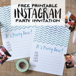 Free Printable DIY Instagram Party Invitations | Wit & Wander Header