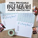 Free Printable DIY Instagram Party Invitations   Wit & Wander Header