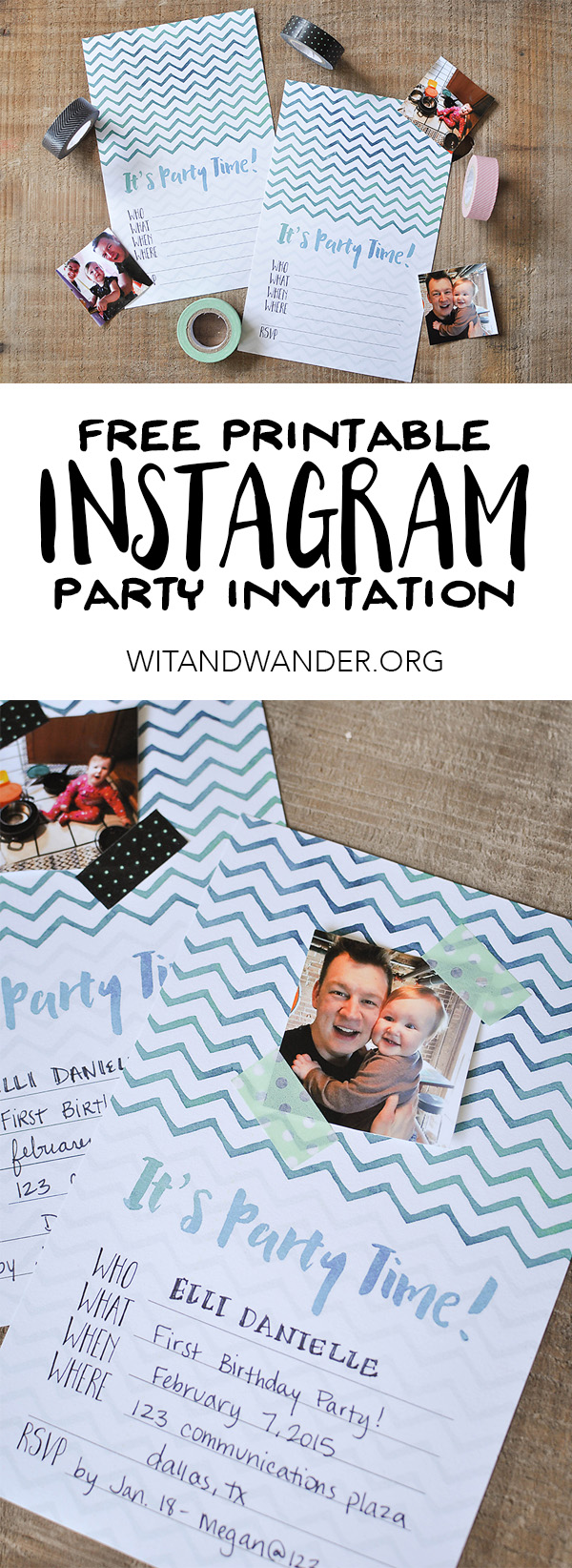 Free Printable DIY Instagram Party Invitations Our Handcrafted Life