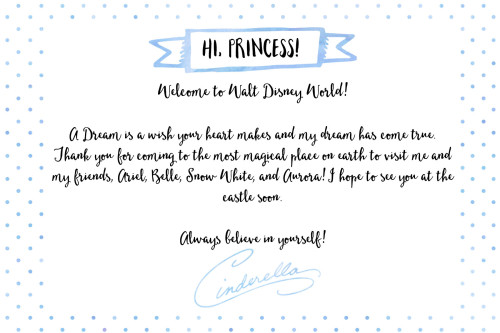 Free Printable Note from Cinderella for Disney World Vacation | Wit & Wander