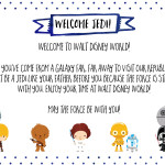 Free Printable Note from Star Wars for Disney World Vacation   Wit & Wander