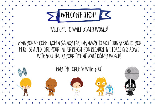 Free Printable Note from Star Wars for Disney World Vacation | Wit & Wander