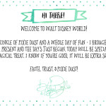 Free Printable Notes from Disney Characters | Tinker Bell Gift Tags
