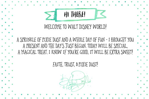 Free Printable Note from Tinker Bell for Disney World Vacation | Wit & Wander