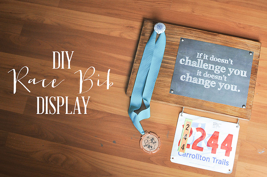 DIY Race Bib + Medal Display | Wit & Wander Pinterest