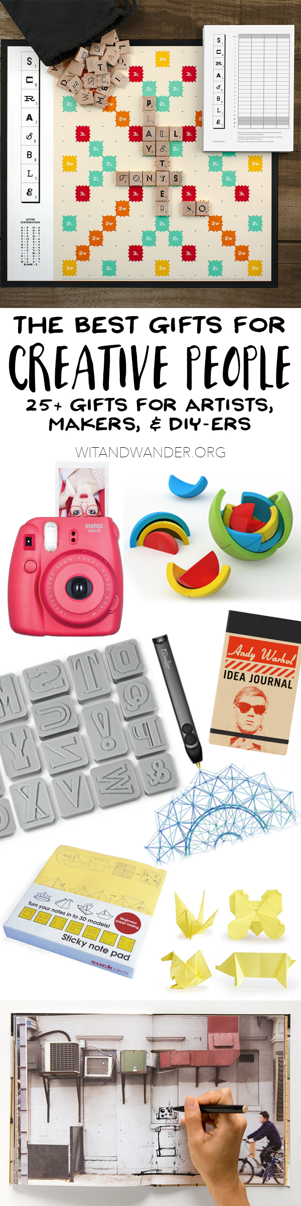 the absolute best gifts for creative people: artists, makers, and