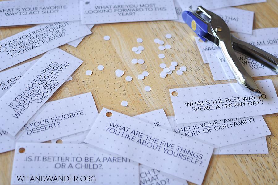DIY Dinner Table Talk Cards - Wit & Wander